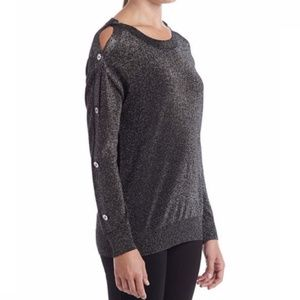 Michael Kors Black Silver Sweater Size Large